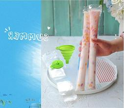 120pcs Ice Popsicle Molds Bags Pop Mold Pouch with Zip Seals
