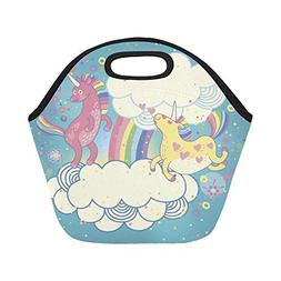 insulated neoprene lunch bag cute