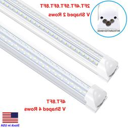 120W 8FT Integrated T8 LED Tube Light V Shaped COOLER/FREEZE
