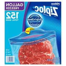 Ziplock Double Zipper Freezer Bag, Gallon, 38-count, 4-pack