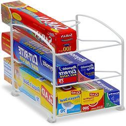Kitchen Wrap Organizer Rack White SimpleHouseware 9.8 x 8.5
