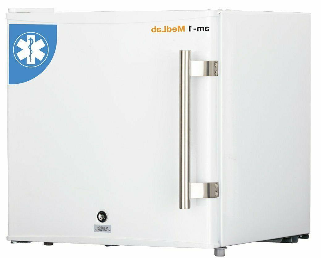 1 1 cu ft white medical freezer