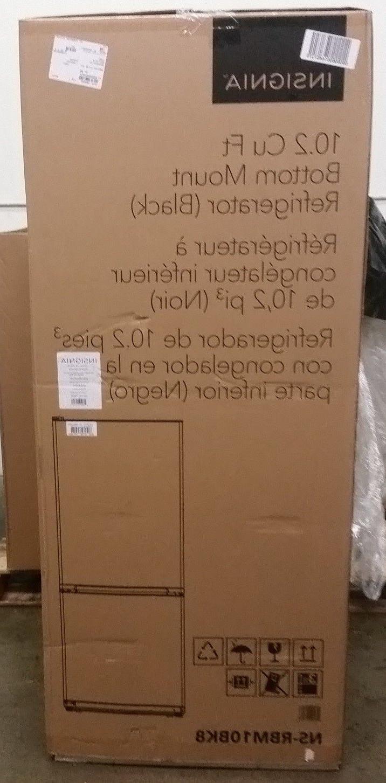 10 2 cu ft bottom freezer refrigerator