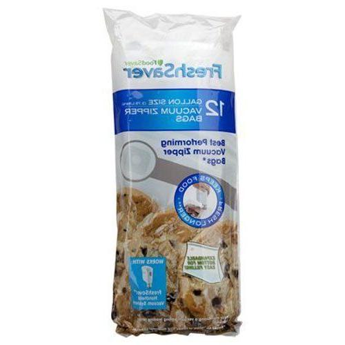 12 food gallon vacuum zipper bags freezer