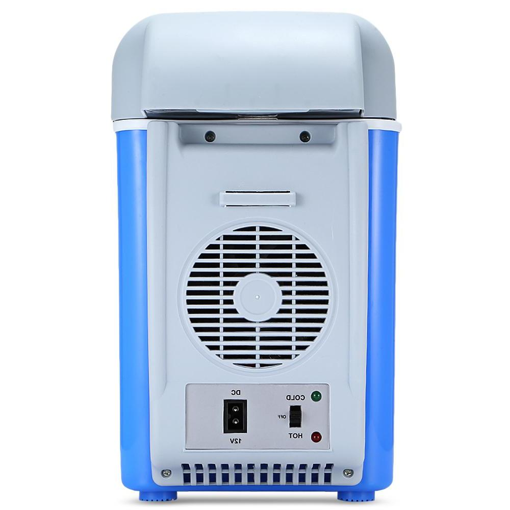 12V 7.5L <font><b>Mini</b></font> Car Dual-Use <font><b>Cooler</b></font> <font><b>Thermoelectric</b></font> Electric <font><b>Fridge</b></font>