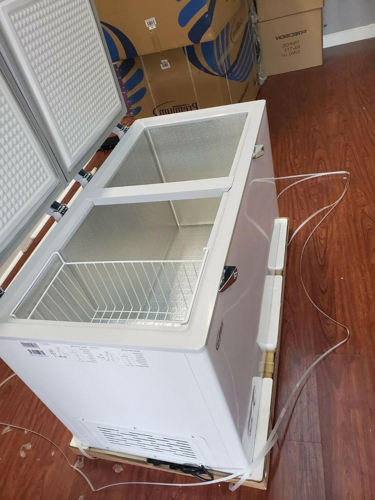 New Double Chest Freezer. 15.0 Ft Lock & include