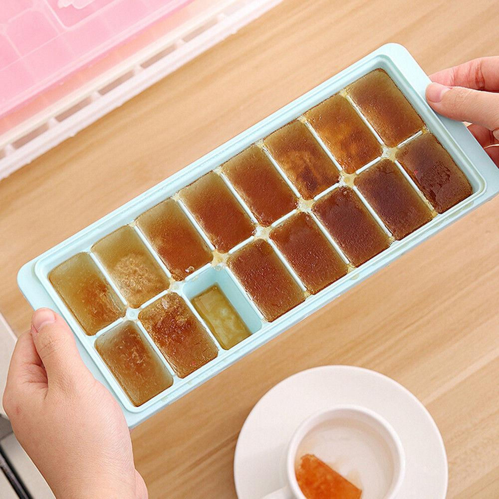 16 Cavity Tray With Cover Jelly Freezer Mold Mould