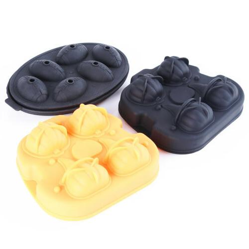 1pce halloween pumpkin silicone ice cube tray