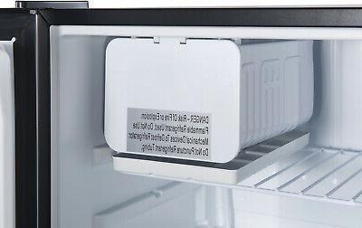 Galanz 2.7 Ft Single Fridge Freezer Conpact Small Stainless Steel
