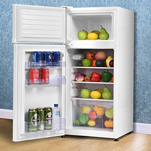Costway 3.4 2 Door Refrigerator Freezer
