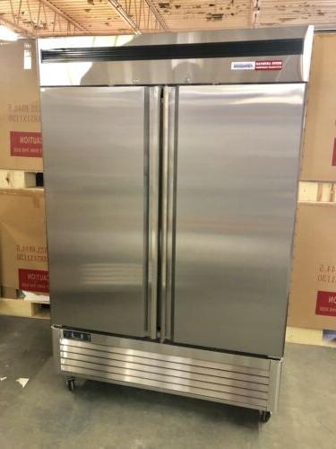 2 door freezer commercial frozen stainless double
