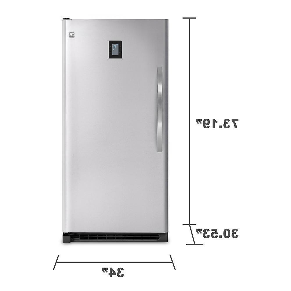 20.5 Foot Elite Upright Freezer, Stainless with Lock!