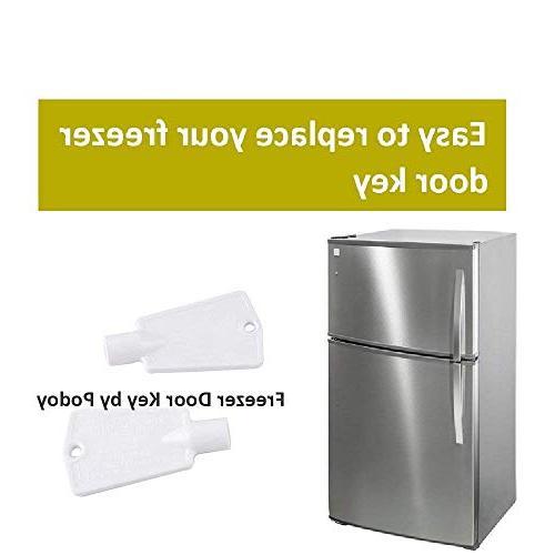 Podoy 297147700 Door Keys Frigidaire Whirlpool Freezers 216702900 AP4301346-Pack of 2