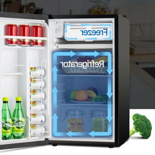 3.2 CUFT Mini Refrigerator Compact Fridge Freezer Dorm Office