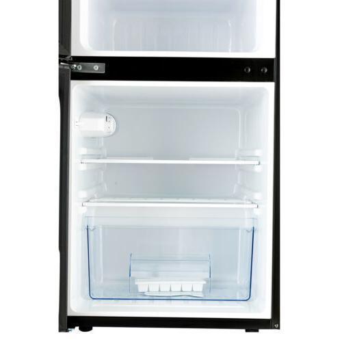 3.2 Compact Refrigerator 2-Door Mini Top Freezer w/ Fruit