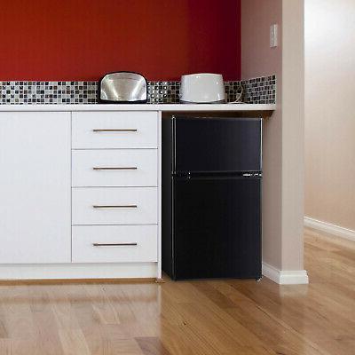 3.2 Cu Ft Refrigerator Black/Stainless Steel