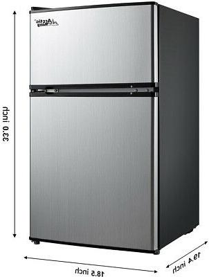 3.2 Fridge Freezer Compact Refrigerator Stainless