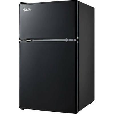 3.2 Cu Fridge Refrigerator Black/Stainless