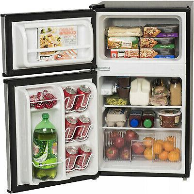 3.2 Fridge Compact Refrigerator Steel