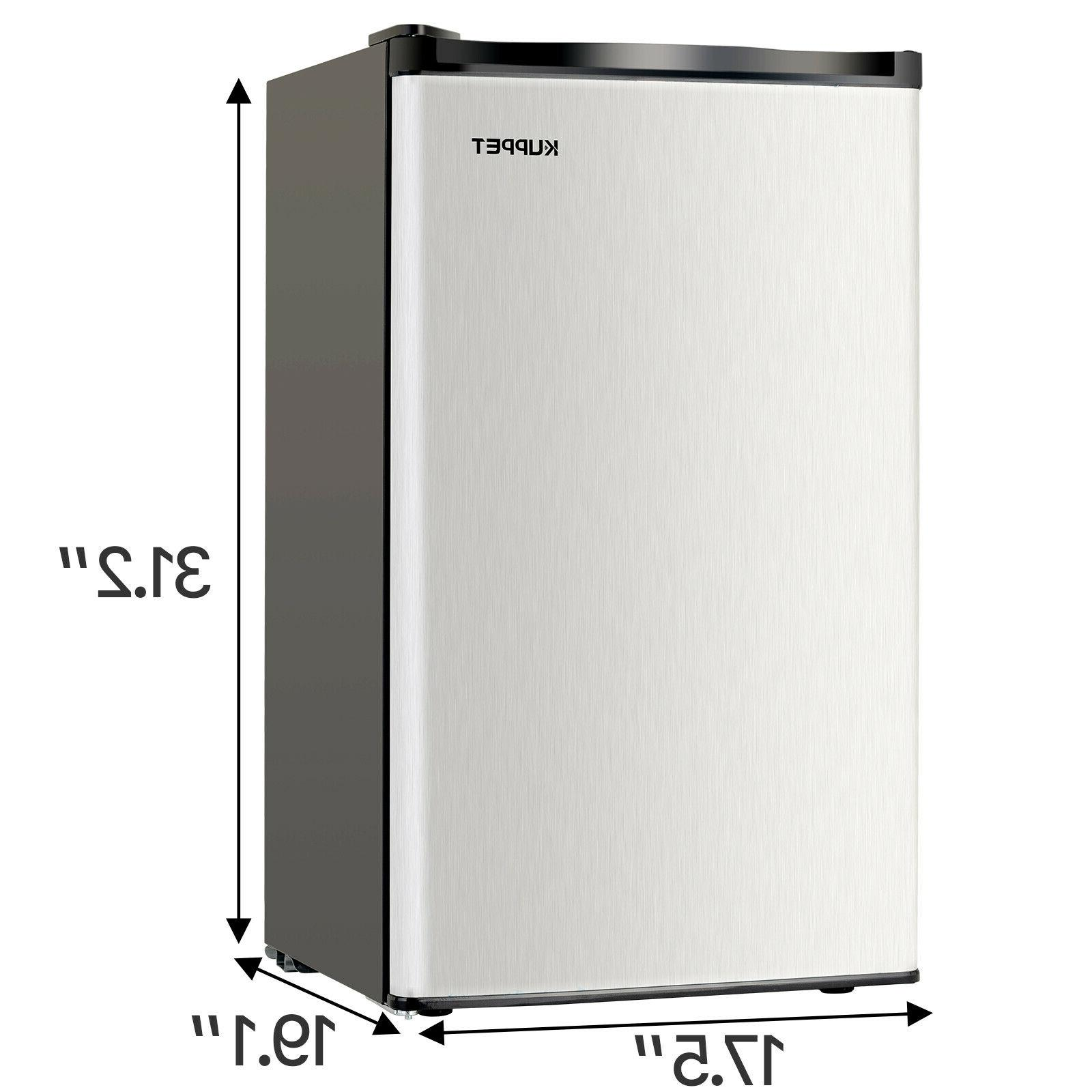 3.2 Mini Refrigerator Compact Fridge Freezer Black Silver