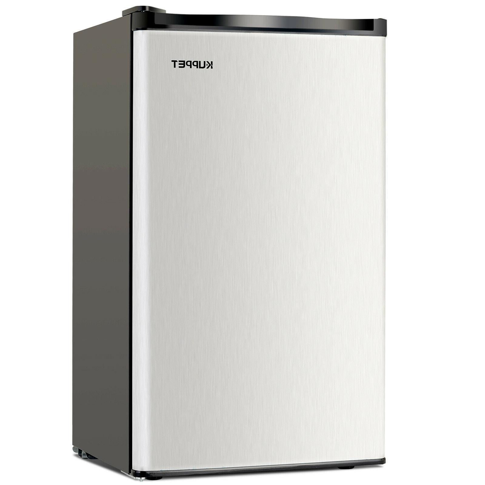 3.2 Mini Refrigerator Compact Black & Silver