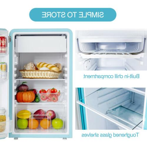 3.2 Compact Refrigerator Eco-friendly w/Chilling Box