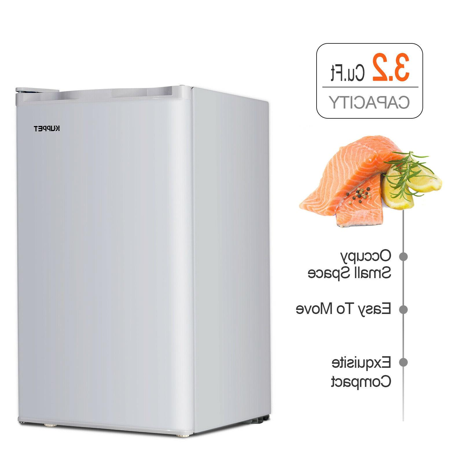 Compact Refrigerator Mini Home Dorm Appliances 3.2 Cu.ft White