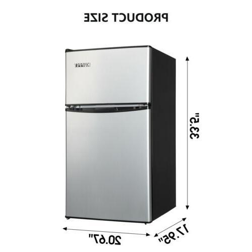 Compact Refrigerator Mini Freezer Home Dorm Fridge 3.2 Cu.ft White