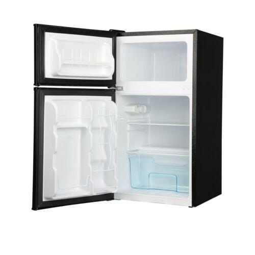 3.2 Ft Steel Mini Fridge Freezer Black