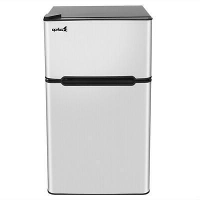 3.2 Steel 2Door Mini Freezer