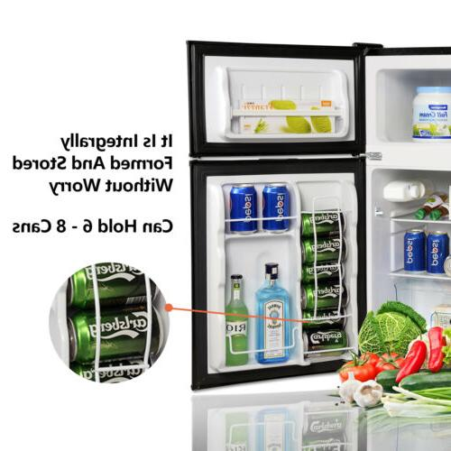 3.2 Cu Ft Steel 2-Door Fridge Freezer