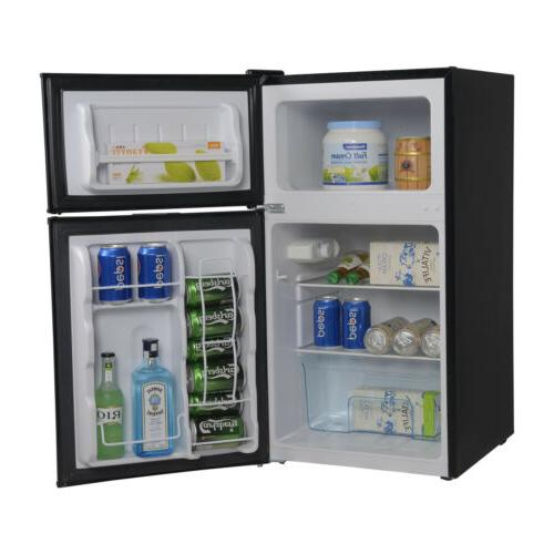 3.2 Cu Stainless Steel Mini Refrigerator Fridge Freezer