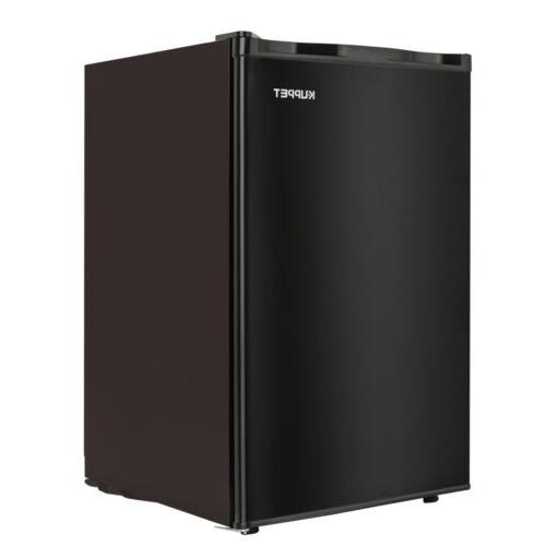 3.2 CUFT Compact Fridge Freezer Freestanding Dorm Black