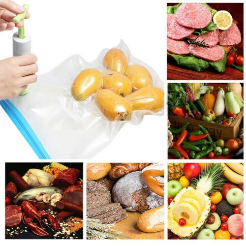 30X Food Storage Saver Vacuum Bag Sealers Ziplock