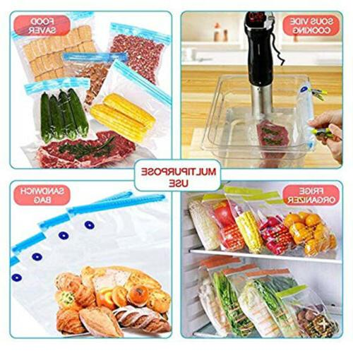 30X Reusable BPA Free Food Storage Freezer Vacuum Bag Ziplock