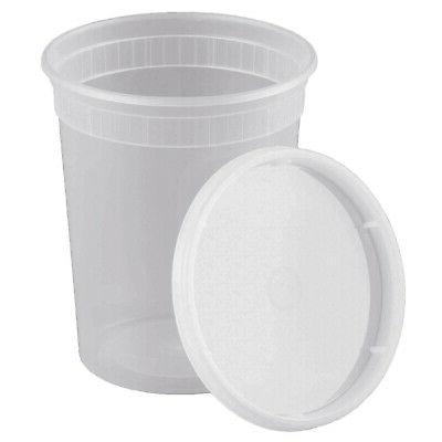 32oz food storage deli containers lids soup