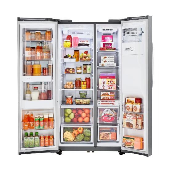 LG Inch Depth Side-by-Side Refrigerator Steel