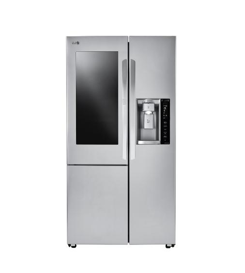 LG Inch Counter Depth Side-by-Side Refrigerator Stainless Steel LSXC22396S