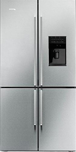 "Smeg 36"", Stainless Steel, 22.7 cu. ft. 4-doors Refrigerator"