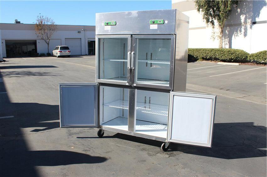 4 Door Commercial Freezer Refrigerator Combo Model Restaurant Equipment NEW