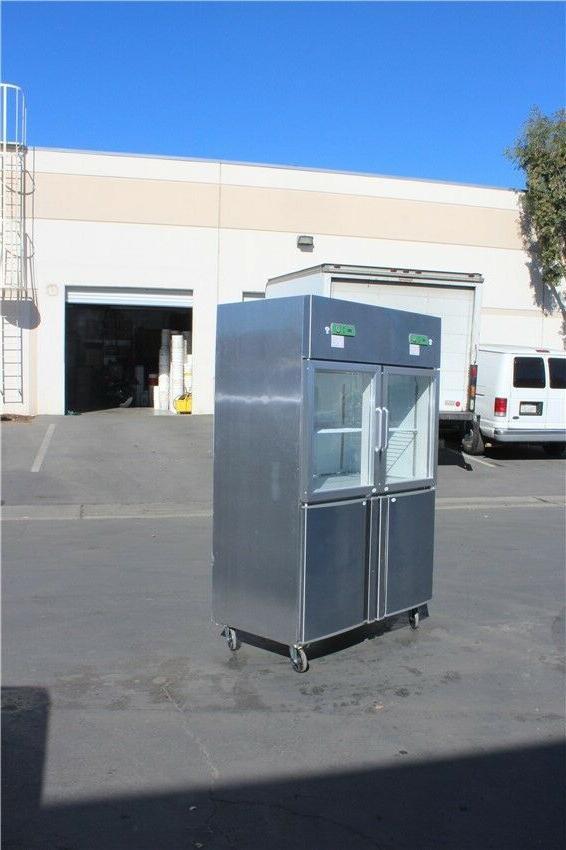 4 Door Commercial Freezer Refrigerator Combo Restaurant NEW