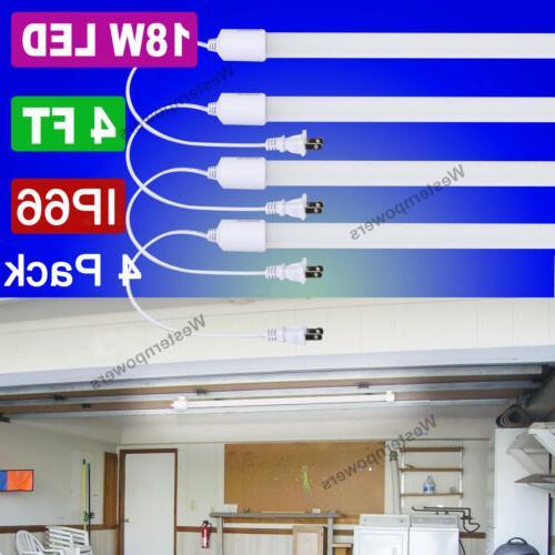 4 pack waterproof 72w led tube light
