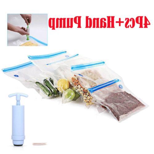 4X Reusable Ziplock Storage Freezer
