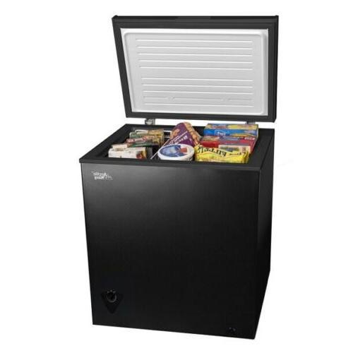 Arctic King  5 Cu Ft Black Chest Freezer Kitchen Food Storag