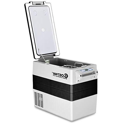 Costway Refrigerator/Freezer Compact Mini Electric for Picnic Camping(-4°F to 50°F)