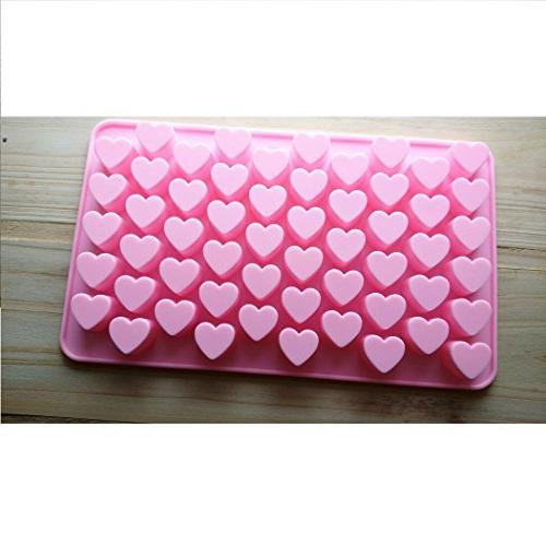 Allforhome Heart Shape Silicone Cube Tray Resin Clay Candy Mold Fondant Chocolate DIY