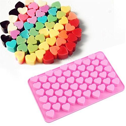 Allforhome 2PCS 55 Heart Cube Candy Mold Fondant DIY Mold Mould