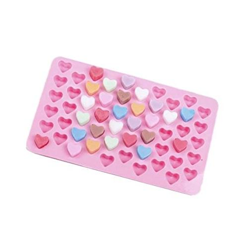 Allforhome 2PCS Heart Silicone Ice Cube Tray Candy Fondant DIY Mould