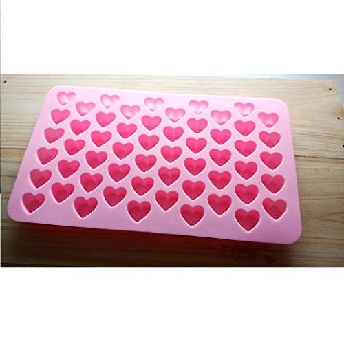 Allforhome 2PCS Heart Cube Tray Candy Fondant