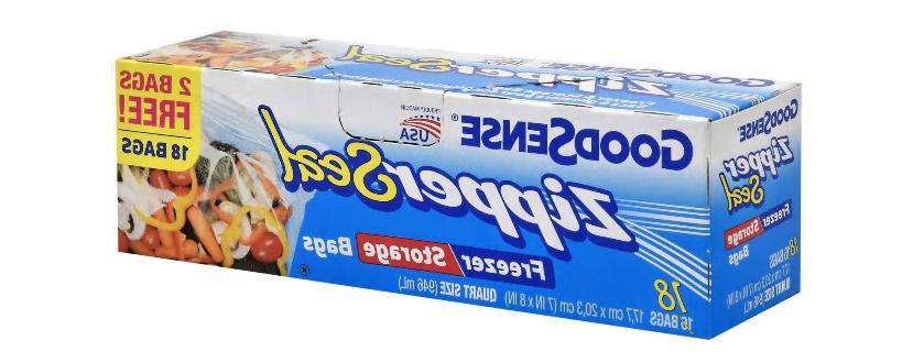 6 boxes zipper seal 1 quart freezer